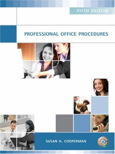 Professional Office Procedures  5th 2009 edition cover
