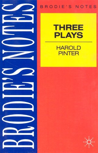"Brodie's Notes on Harold Pinter's ""Birthday Party"", ""Caretaker"" and ""Homecoming""  10th 1991 edition cover"