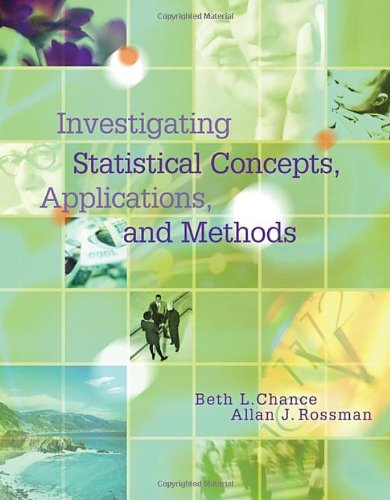 Investigating Statistical Concepts, Applications, and Methods   2006 9780495050643 Front Cover