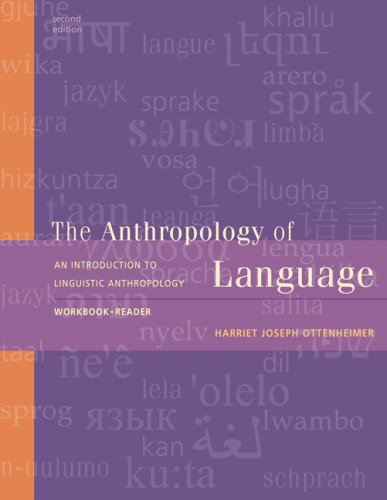 Anthropology of Language An Introduction to Linguistic Anthropology 2nd 2009 (Workbook) 9780495555643 Front Cover
