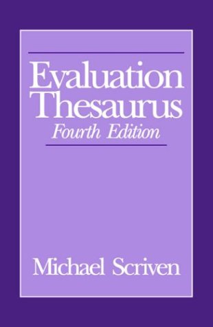 Evaluation Thesaurus  4th 1991 edition cover