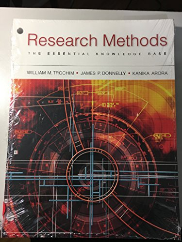 Research Methods: The Essential Knowledge Base  2015 9781305633643 Front Cover