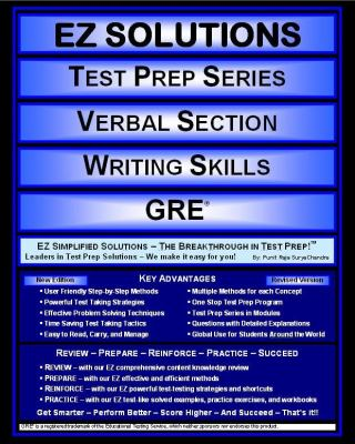 EZ Solutions: Test Prep Series: Verbal Section: Writing Skills : Gre  2011 edition cover