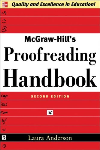 McGraw-Hill's Proofreading Handbook  2nd 2006 (Revised) edition cover