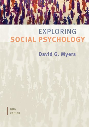 Exploring Social Psychology  5th 2009 edition cover