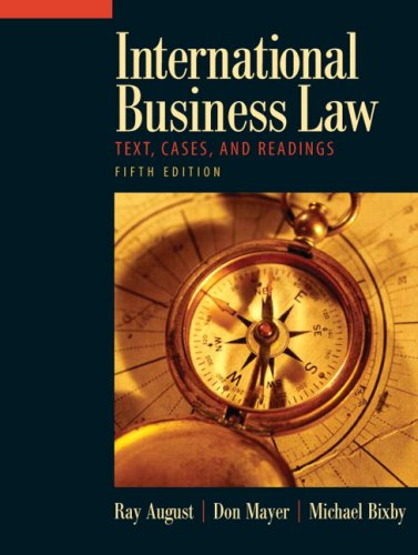 International Business Law  5th 2009 edition cover