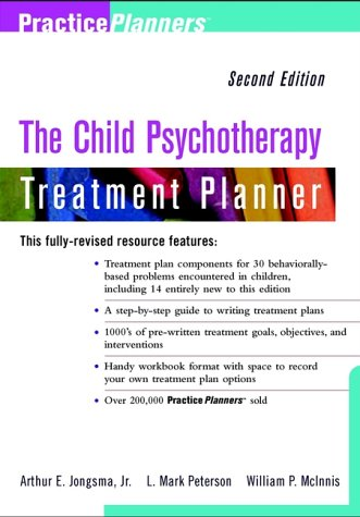 Child Psychotherapy Treatment Planner  2nd 2000 edition cover