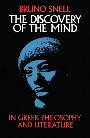 Discovery of the Mind In Greek Philosophy and Literature  1982 edition cover