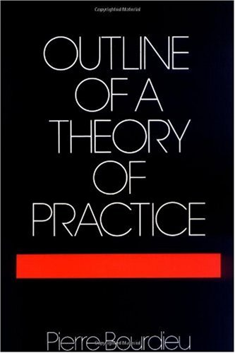 Outline of a Theory of Practice   1977 edition cover