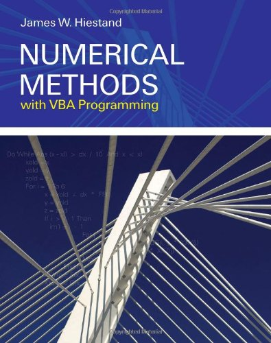 Numerical Methods with VBA Programming   2009 edition cover