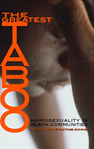 Greatest Taboo Homosexuality in Black Communities  2001 edition cover