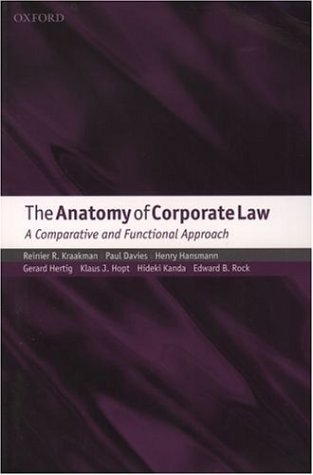 Anatomy of Corporate Law A Comparative and Functional Approach  2003 9780199260645 Front Cover