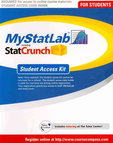 MyLab Statistics -- Standalone Access Card   2012 (Student Manual, Study Guide, etc.) 9780321694645 Front Cover
