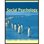 Social Psychology 5th 2002 9780618129645 Front Cover