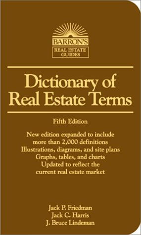 Dictionary of Real Estate Terms 5th 2000 9780764112645 Front Cover