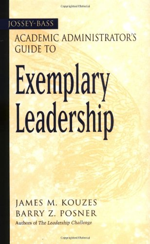 Jossey-Bass Academic Administrator's Guide to Exemplary Leadership   2003 edition cover