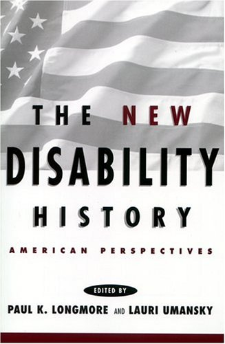 New Disability History American Perspectives  2001 edition cover
