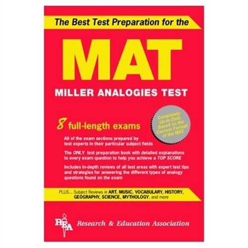 MAT The Best Test Preparation for the Miller Analogies Test  2000 9780878918645 Front Cover