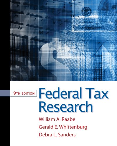 Federal Tax Research  9th 2012 edition cover