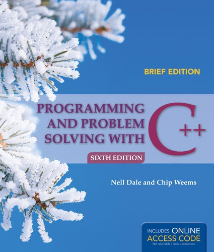 Programming and Problem Solving with C++  6th 2014 edition cover