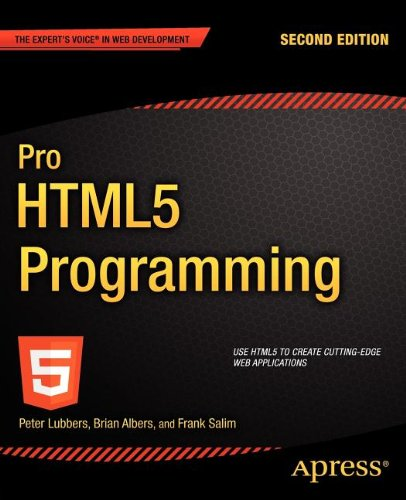 Pro HTML5 Programming  2nd 2011 edition cover