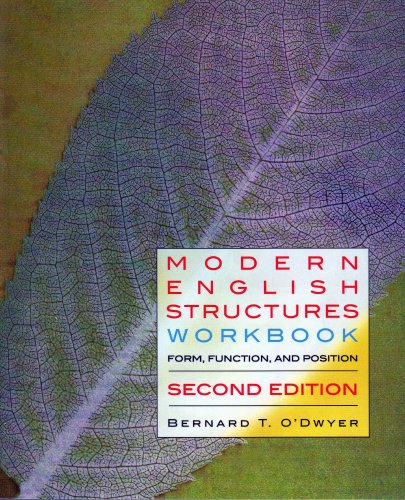 Modern English Structures: 2nd 2006 edition cover
