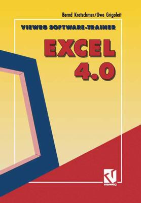Vieweg Software-Trainer Excel 4.0:   1992 9783528052645 Front Cover