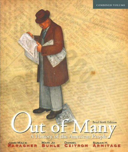 Out of Many A History of the American People 6th 2012 (Brief Edition) edition cover