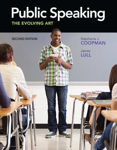 Public Speaking The Evolving Art 2nd 2012 edition cover