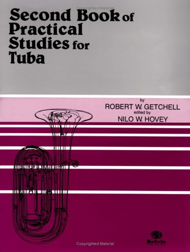 Second Book of Practical Study of Tuba   1985 edition cover