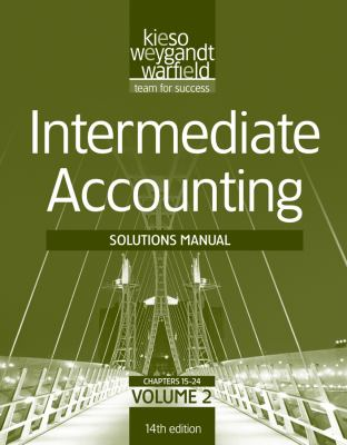 Solutions Manual V2 T/a Intermediate Accounting, 14th Edition  14th 2012 9781118014646 Front Cover