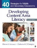 Developing Content Area Literacy 40 Strategies for Middle and Secondary Classrooms 2nd 2015 edition cover