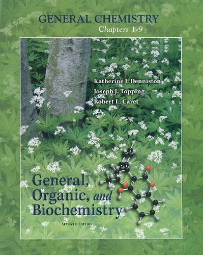 General Chemistry - General, Organic, and Biochemistry  7th 2011 edition cover