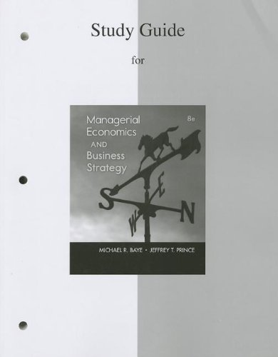 Managerial Economics and Business Strategy  8th 2014 edition cover
