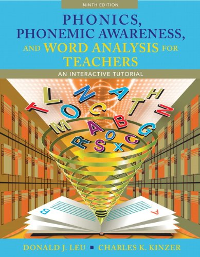 Phonics, Phonemic Awareness, and Word Analysis for Teachers An Interactive Tutorial 9th 2012 edition cover