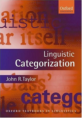 Linguistic Categorization  3rd 2003 (Revised) edition cover