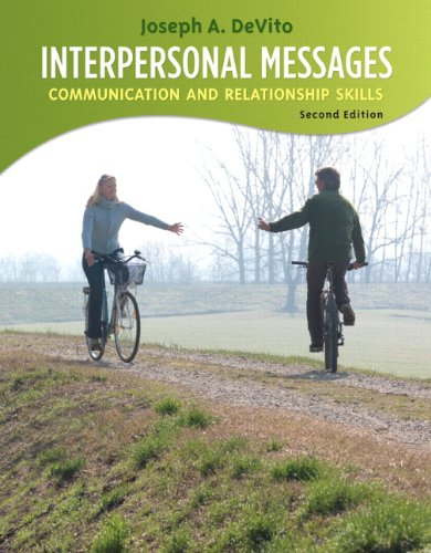 Interpersonal Messages Communication and Relationship 2nd 2011 9780205688647 Front Cover
