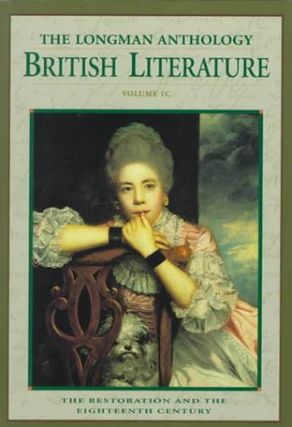 Longman Anthology of British Literature The Restoration and the Eighteenth Century  1999 edition cover