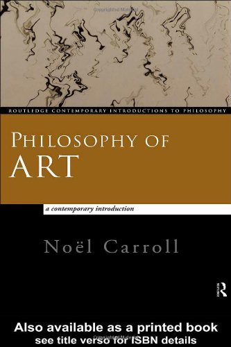 Philosophy of Art Contemporary Introduction  1999 edition cover