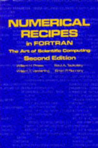 Numerical Recipes in FORTRAN 77 The Art of Scientific Computing 2nd 1992 (Revised) edition cover