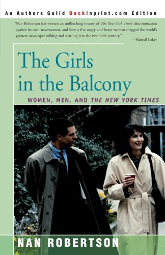 Girls in the Balcony Women, Men, and the New York Times  2000 edition cover