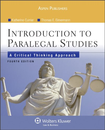 Introduction Paralegal Studies Critical Thinking Approach 4th 2009 (Revised) 9780735578647 Front Cover