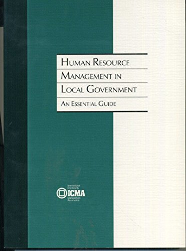 Human Resource Management in Local Government : An Essential Guide N/A edition cover