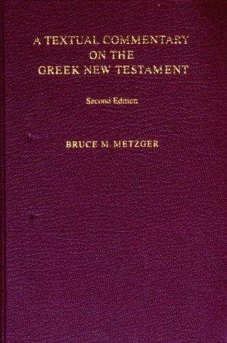 Textual Commentary on the Greek New Testament  2nd edition cover