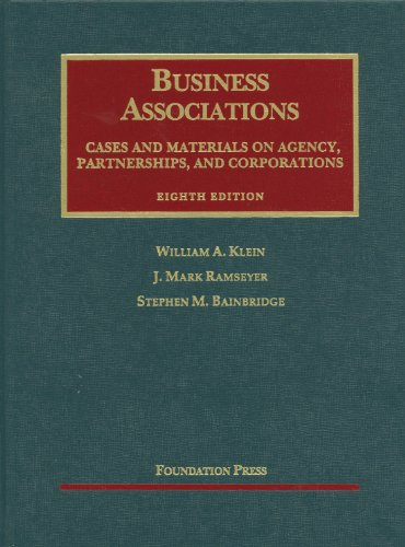 Business Associations Cases and Materials on Agency, Partnerships, and Corporations 8th 2012 (Revised) edition cover