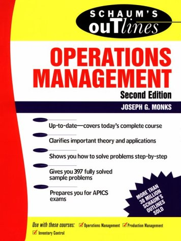 Schaum's Outline of Operations Management  2nd 1996 (Revised) edition cover