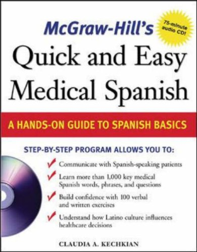Quick and Easy Medical Spanish A Hands-On Guide to Spanish Basics  2006 edition cover