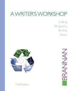 Writer's Workshop : Crafting Paragraphs, Building Essays 3rd 2009 edition cover