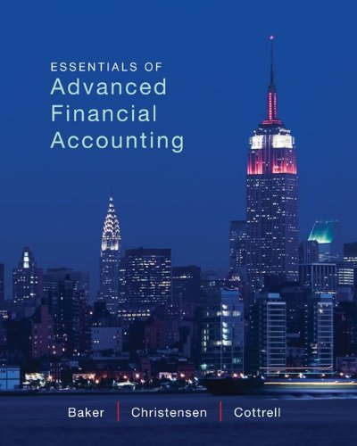 Essentials of Advanced Financial Accounting   2012 edition cover