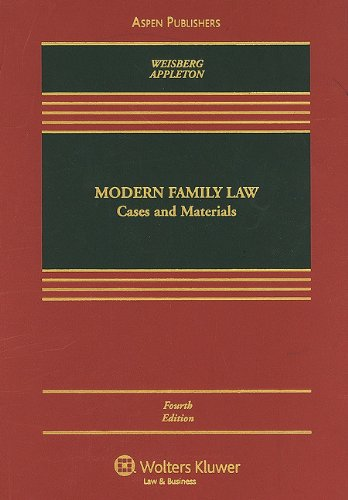 Modern Family Law Cases and Materials 4th 2009 (Revised) edition cover